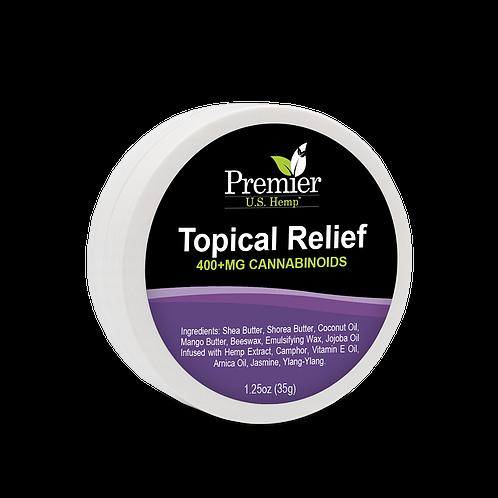 Premier US Hemp Topical Relief - 1 25 oz (400mg of Cannabinoids)